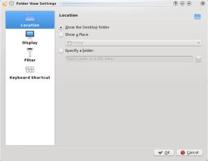 Folderview Settings - Location